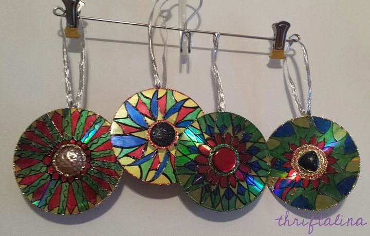 upcycled cd ornaments easy diy project for last minute gifts, christmas decorations, crafts, repurposing upcycling, seasonal holiday decor