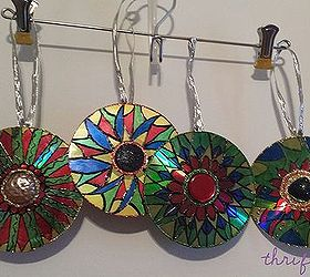 Upcycled Cd Ornaments Easy Diy Project For Last Minute Gifts, Christmas  Decorations, Crafts,