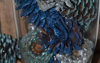 DIY Glittered Pinecone Centerpiece
