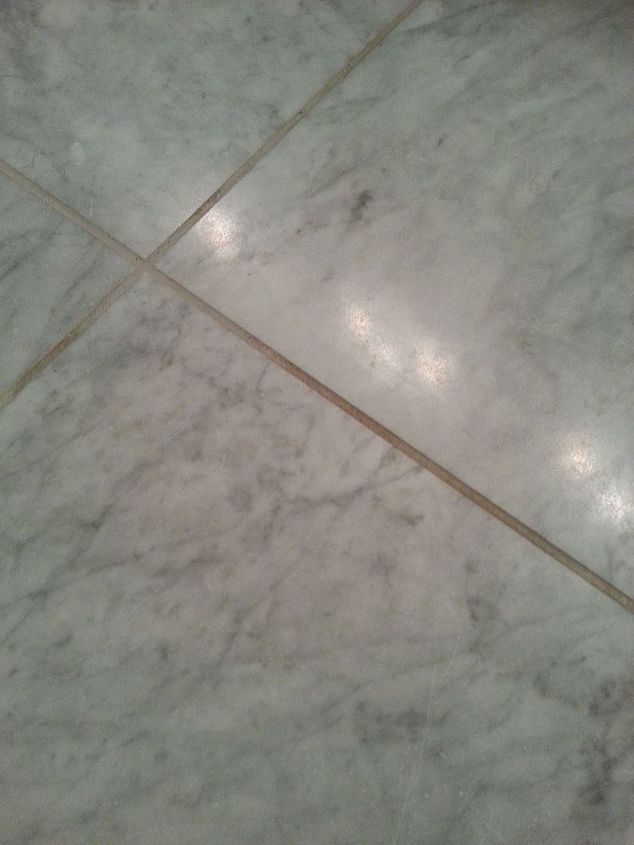 how to clean grout on honed marble floor hometalk. Black Bedroom Furniture Sets. Home Design Ideas
