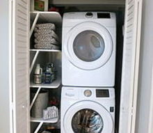 small space solution laundry closet makeover, closet
