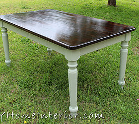 Superb Refinishing A Dining Room Table With Paint And Wood Stain, Chalk Paint,  Painted Furniture