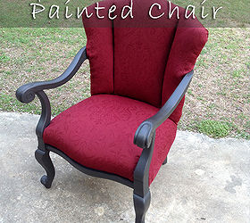 Painted And Upholstered Wingback Chair, Chalk Paint, Painted Furniture,  Reupholster