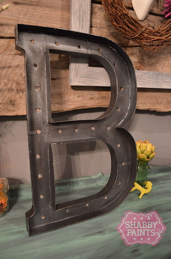 how to make a faux metal marquee letter sign, christmas decorations, crafts, how to, seasonal holiday decor