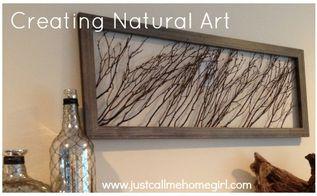 create natural wall art using wooden sticks, crafts, repurposing upcycling, wall decor