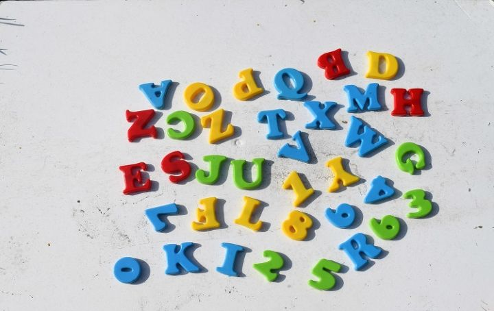 diy silver letters magnets, crafts, repurposing upcycling