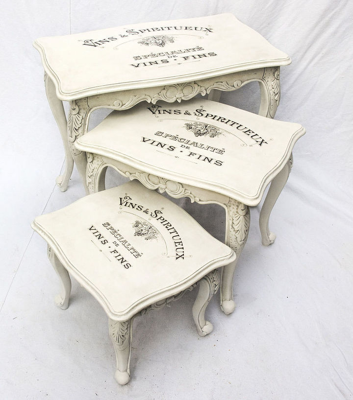 Vintage shabby chic decal transfer to furniture wood for Furniture transfers