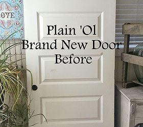 How To Age A Brand New Door, Diy, Doors, How To, Painted