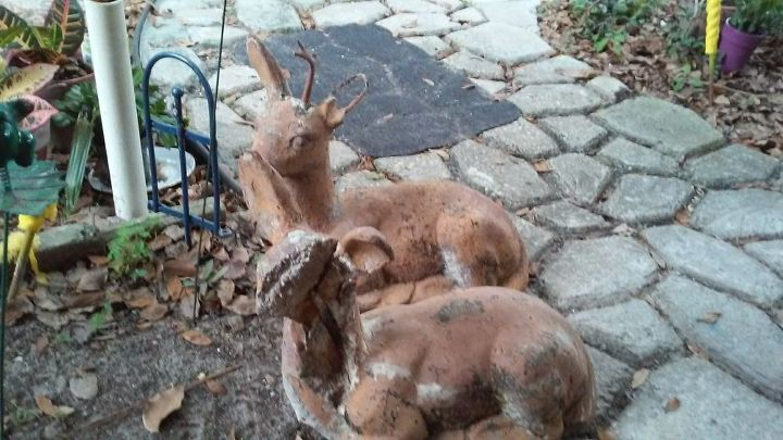 q how to fix an outdoor stone deer, crafts, diy, how to, outdoor living