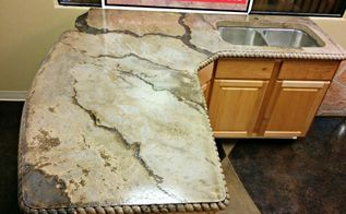 amazing diy concrete countertops, concrete masonry, concrete countertops, countertops, diy, how to, kitchen design, kitchen island