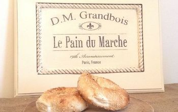 french bread maker sign, chalk paint, crafts, how to, kitchen cabinets, repurposing upcycling