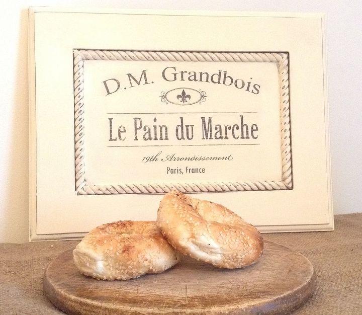 Repurposed Cabinet Door To French Bread Maker Sign Hometalk