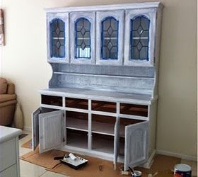 Perfect Diy Old Kitchen Hutch Transformed And Re Styled, Kitchen Design, Painted  Furniture