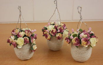 how to make hanging baskets for a dolls house, crafts, how to