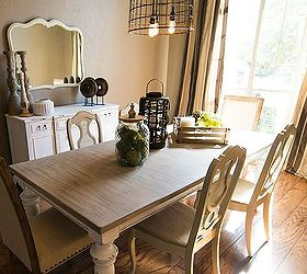 Updated Dining Room Before And After, Dining Room Ideas, Lighting, Painted  Furniture,