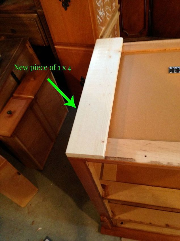 how to add a foot to a dresser