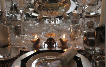 new years eve glitz glam tablescape thrifty style, home decor, seasonal holiday decor