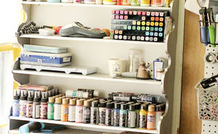 how to organize a small craft space, craft rooms, crafts, how to, organizing, storage ideas