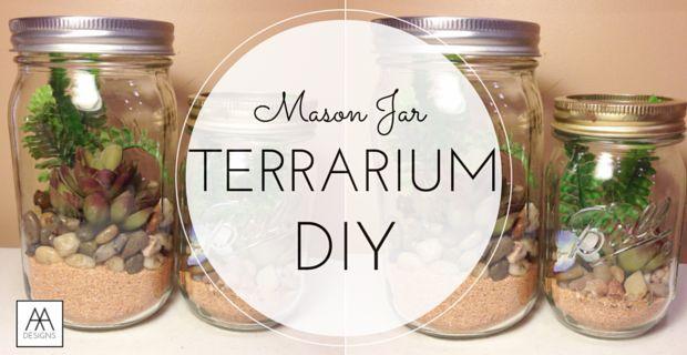 diy mason jar terrarium, gardening, home decor, mason jars, repurposing upcycling, terrarium