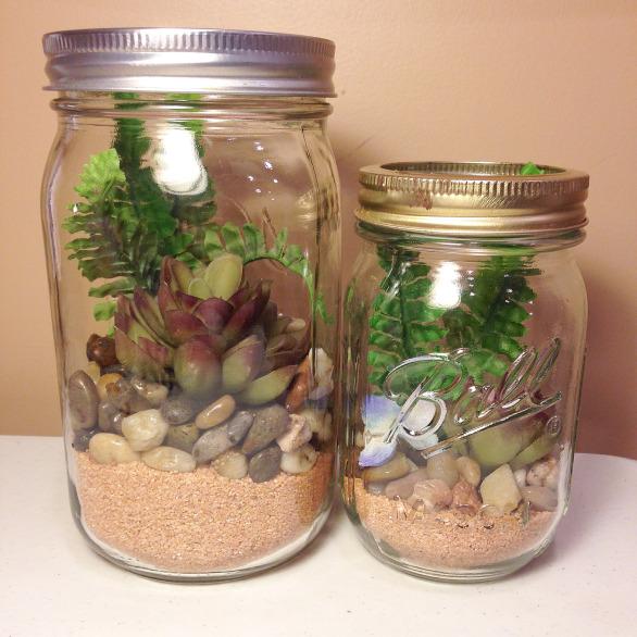 diy mason jar terrarium gardening home decor mason jars repurposing upcycling - Mason Jar Diy