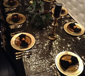 new years black and gold tablescape crafts dining room ideas seasonal holiday decor & New Years Black and Gold Tablescape | Hometalk