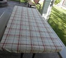 Using A Bed Sheet As A Outdoor Table Tablecloth, Outdoor Living,  Repurposing Upcycling