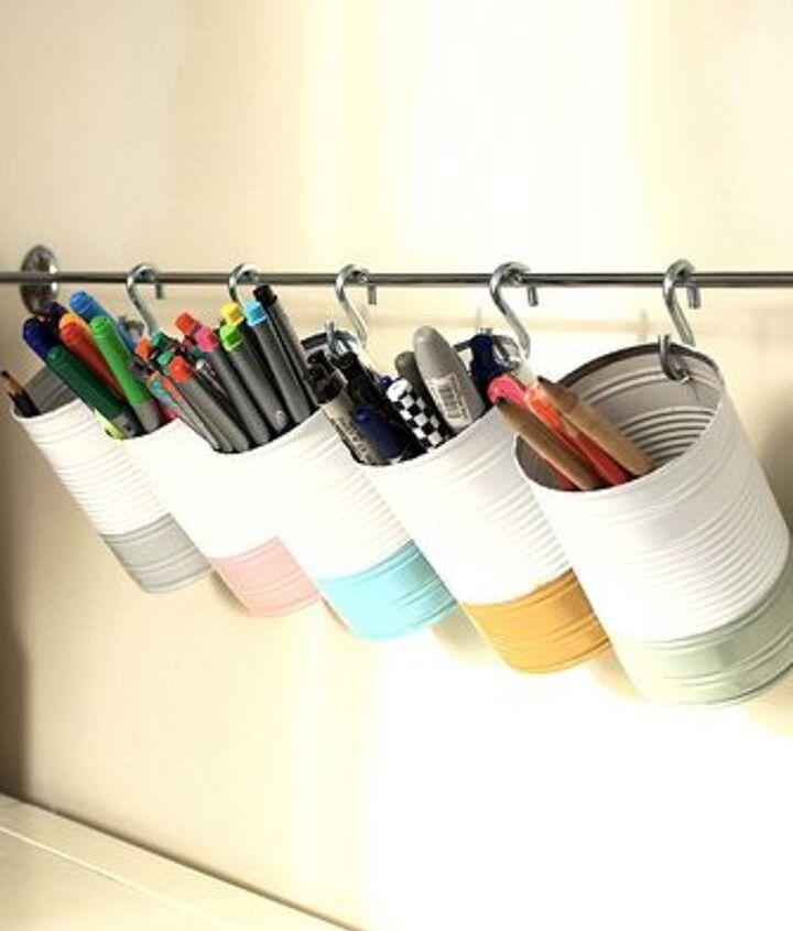 desk storage towel bar, outdoor living, painted furniture, storage ideas