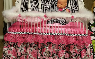 dumpster dive headboard transformed into princess baby doll bed, bedroom ideas, painted furniture, repurposing upcycling