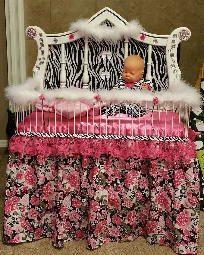 Dumpster Dive Headboard Transformed Into Princess Baby
