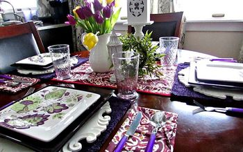 Tablescape - A Celebration that it hasn't snowed!
