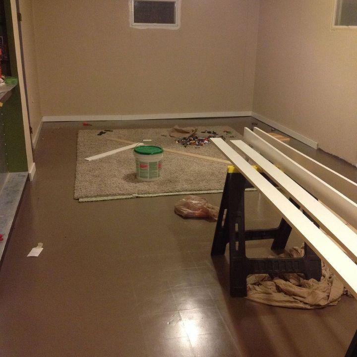 basement family room redo for under 1000, basement ideas