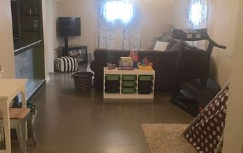 Basement Family Room Redo for Under $1000