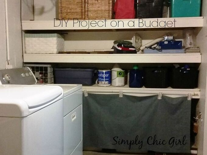 diy project on a budget organizing the laundry room, laundry rooms, organizing