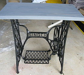 Singer Sewing Machine Cabinet Makeover to Hall Table | Hometalk