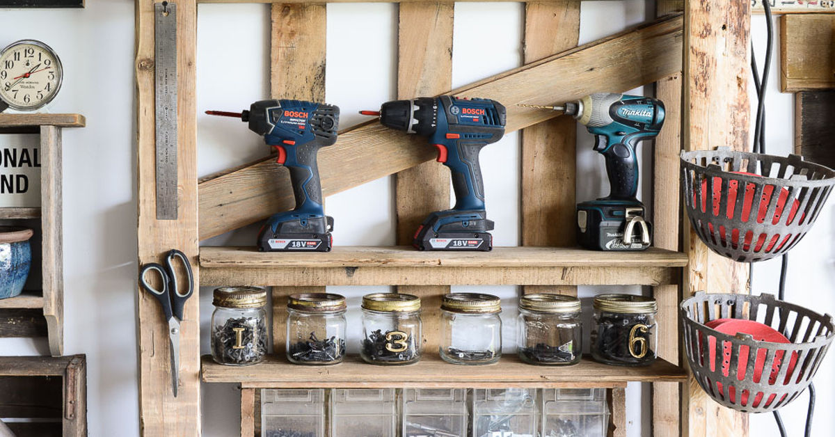 Completely new From a Lowly Pallet to the Ultimate Tool Storage Shelf! | Hometalk ES72