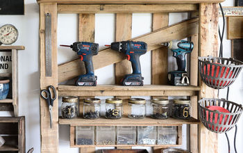 From a Lowly Pallet to the Ultimate Tool Storage Shelf!
