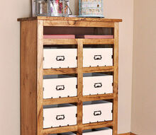 diy crate storage unit, painted furniture, rustic furniture, storage ideas