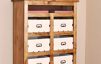 DIY Crate Storage Unit