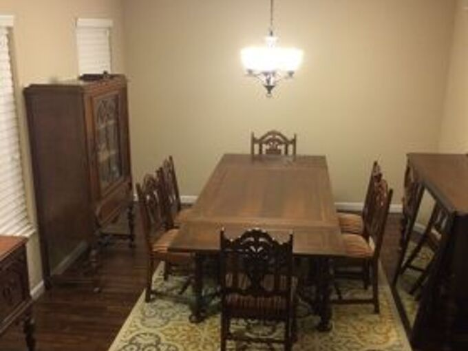 Astonishing How To Modernize An Antique Dining Room Set Hometalk Download Free Architecture Designs Grimeyleaguecom