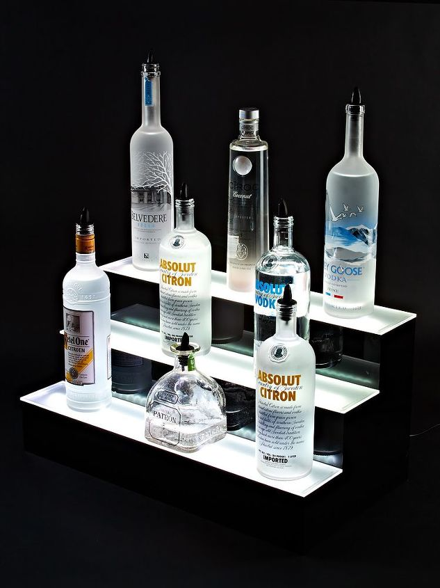 3 Step LED Lighted Liquor Display Shelves | Hometalk