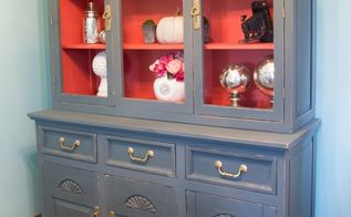 plaster painted china hutch, painted furniture