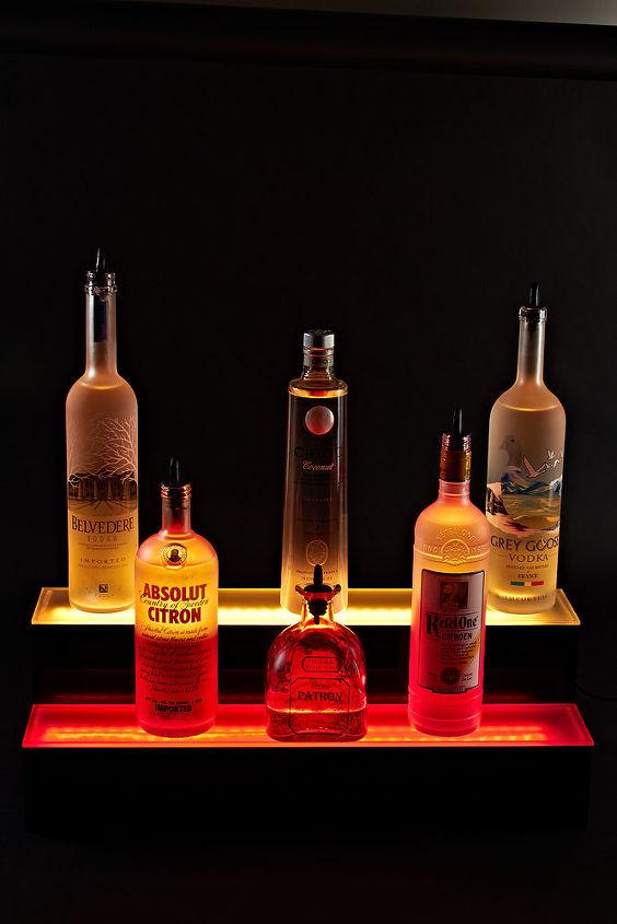 Led Liquor Bottle Shelves Display Hometalk
