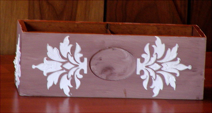 upcycling a thrift store box with stenciling and plaster, crafts, repurposing upcycling