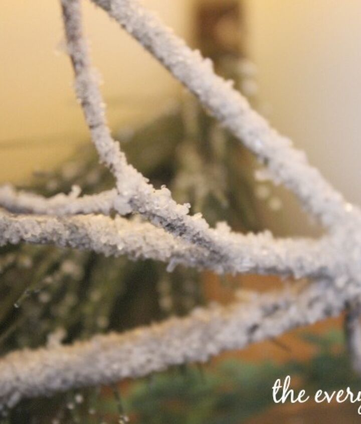 diy iced winter branches, crafts, how to, repurposing upcycling