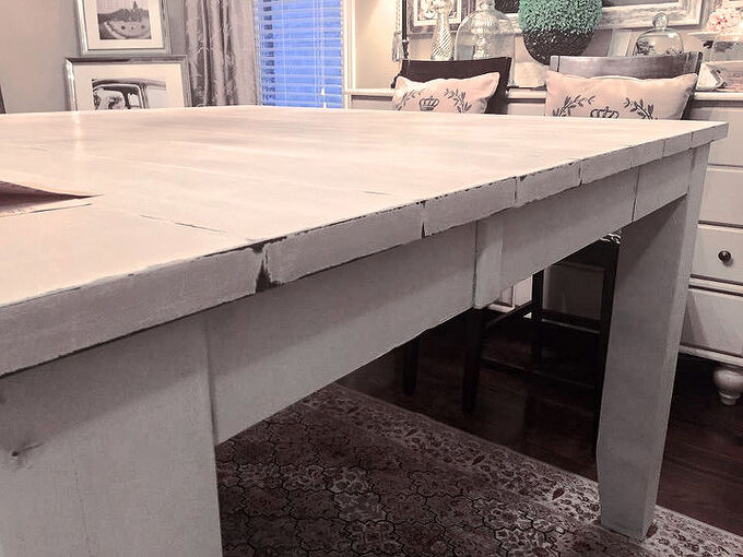diy dining table makeover tutorial, dining room ideas, diy, how to, painted furniture, woodworking projects