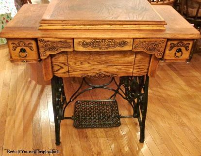 Antique Treadle Sewing Machine Cabinet Repair And Upcycle Hometalk Amazing How To Restore Old Sewing Machine Cabinet