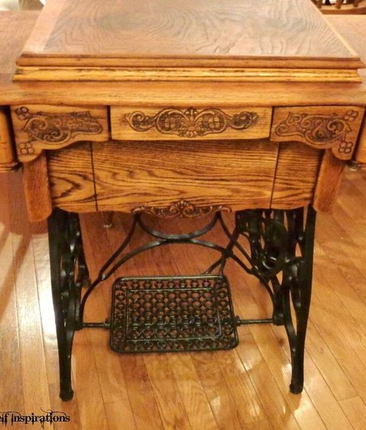 antique treadle sewing machine cabinet repair and upcycle, how to, painted furniture, repurposing upcycling, woodworking projects