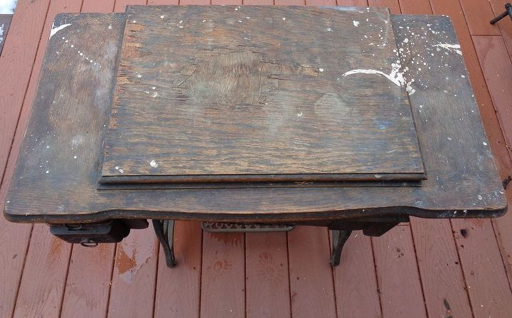 antique treadle sewing machine cabinet repair and upcycle, how to, painted  furniture, repurposing - Antique Treadle Sewing Machine Cabinet Repair And Upcycle Hometalk