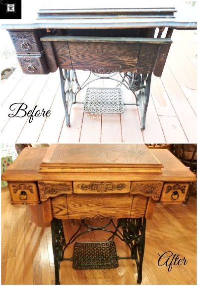 Antique Treadle Sewing Machine Cabinet Repair And Upcycle Hometalk Interesting Antique Singer Sewing Machine Cabinet Value