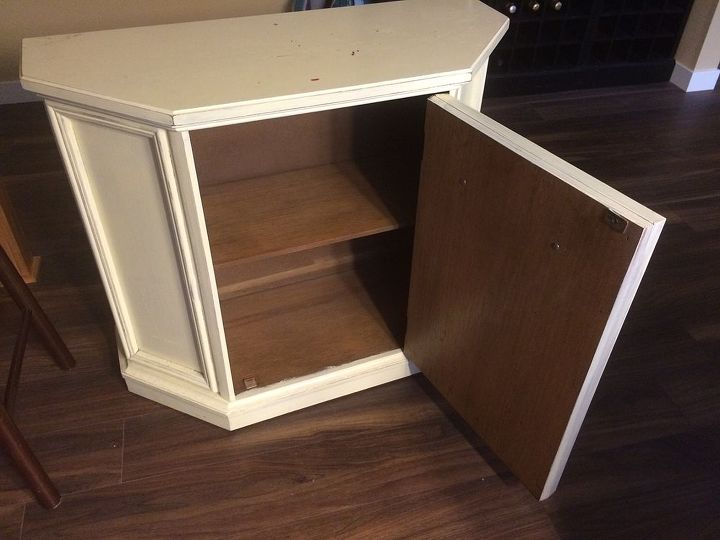 q color ideas for distressing funky tv stand, chalk paint, Nice shelf